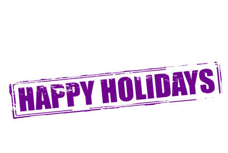 happy holidays: Rubber stamp with text happy holidays inside, vector illustration