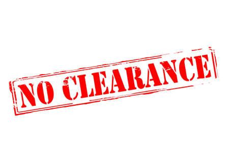 Rubber stamp with text no clearance inside, vector illustration