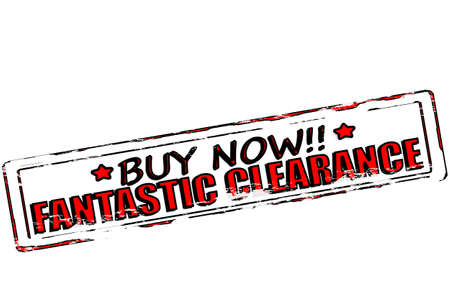 Rubber stamp with text fantastic clearance inside, vector illustration