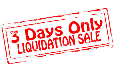 liquidation: Rubber stamp with text liquidation sale inside, vector illustration