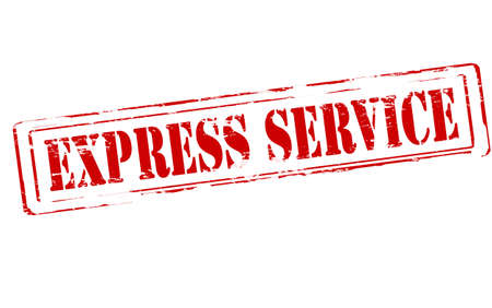 berth: Rubber stamp with text express service inside, vector illustration Illustration