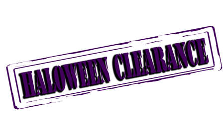 winding up: Rubber stamp with text haloween clearance inside, vector illustration