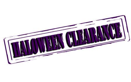 haloween: Sello de goma con la depuraci�n de haloween texto dentro, ilustraci�n vectorial Vectores