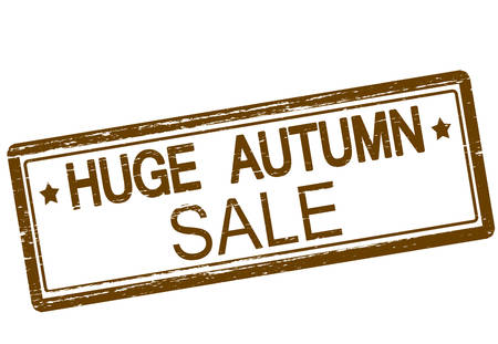 tremendous: Rubber stamp with text huge autumn sale inside, vector illustration