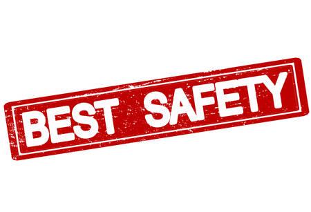 surety: Timbro di gomma con il testo migliore sicurezza dentro, illustrazione vettoriale Vettoriali