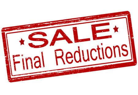 final: Rubber stamp with text final reductions inside, vector illustration Illustration