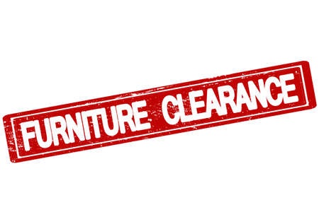 Rubber stamp with text furniture clearance inside, vector illustration