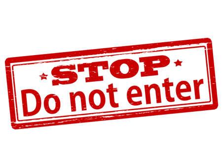 do not enter sign: Rubber stamp with text do not enter inside, vector illustration` Illustration