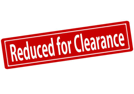 Rubber stamp with text reduced for clearance inside, vector illustration`
