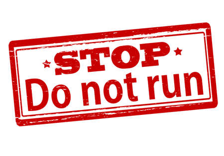 scamper: Rubber stamp with text do not run inside, vector illustration` Illustration