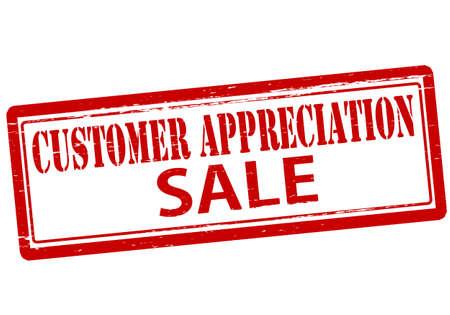 Rubber stamp with text customer appreciation inside, vector illustration Illustration