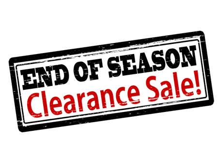 finale: Rubber stamp with text end of season clearance sale inside, vector illustration