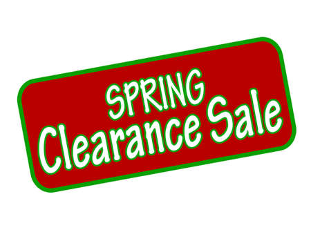 winding up: Rubber stamp with text spring clearance sale inside, vector illustration