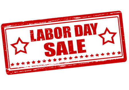 Rubber stamp with text labor day sale inside, vector illustration