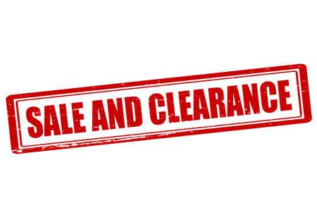 liquidation: Rubber stamp with text sale and clearance inside, vector illustration