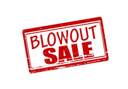 blow out: Timbro di gomma con il testo spegnere vendita all'interno, illustrazione vettoriale Vettoriali