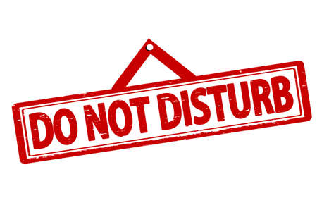 do not disturb: Rubber stamp with text do not disturb inside, vector illustration Illustration