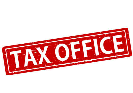 tax office: Rubber stamp with text tax office inside, vector illustration Illustration