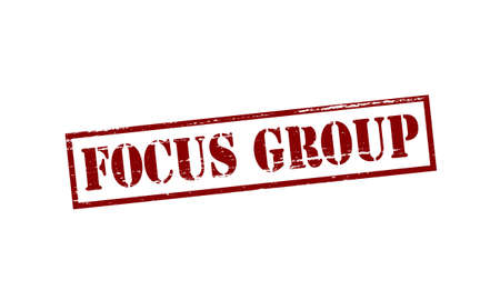 focus group: Rubber stamp with text focus group inside, vector illustration
