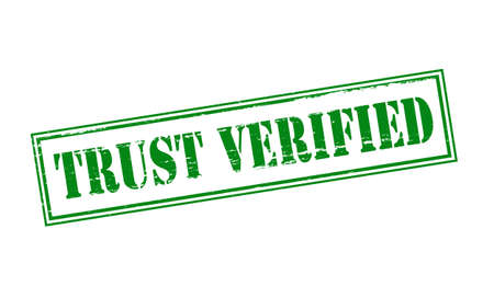 verified stamp: Rubber stamp with text trust verified inside, vector illustration