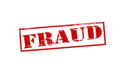 swindle: Rubber stamp with word fraud inside, vector illustration