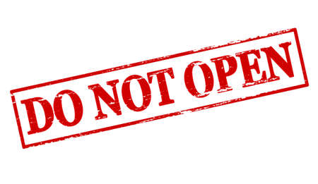 not open: Rubber stamp with text do not open inside, vector illustration