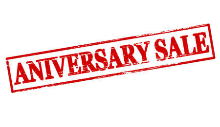 aniversary: Rubber stamp with text aniversary sale inside, vector illustration