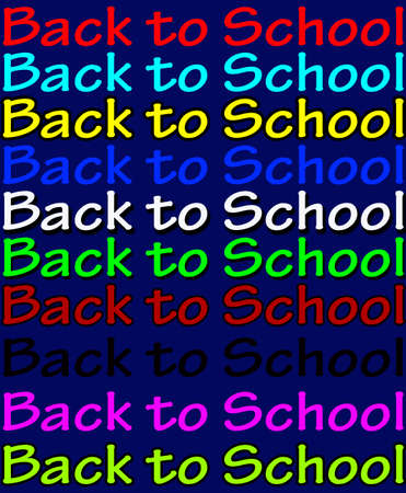 backwards: Background with text back to school inside, vector illustration Illustration
