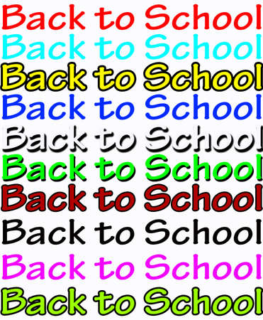 astern: Background with text back to school inside, vector illustration Illustration