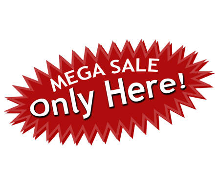hither: Rubber stamp with text mega sale inside, vector illustration