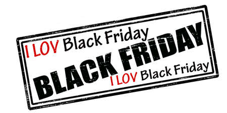fondness: Rubber stamp with text i love Black Friday inside, vector illustration