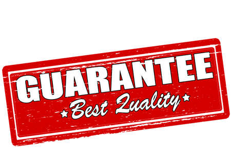 guaranty: Rubber stamp with text guarantee best quality inside, vector illustration Illustration