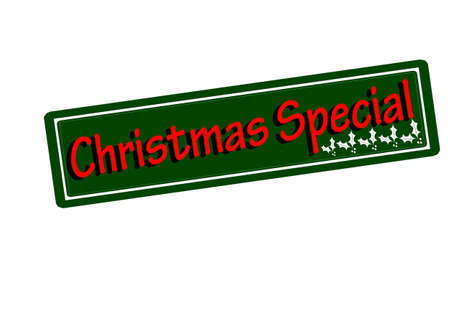 especial: Rubber stamp with text Christmas special inside, vector illustration