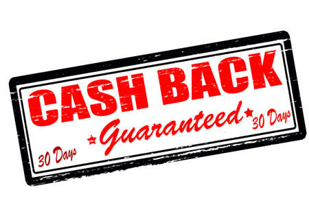 astern: Rubber stamp with text cash back guaranteed inside, vector illustration Illustration