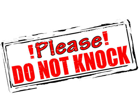 thrash: Rubber stamp with text please do not knock inside, vector illustration