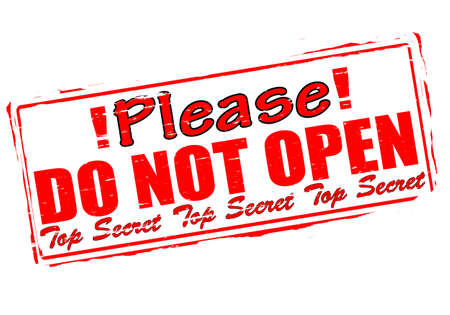 not open: Rubber stamp with text please do not open inside, vector illustration