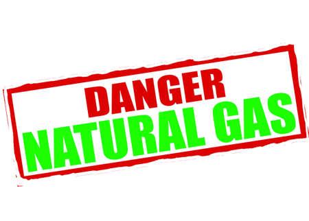 gossamer: Rubber stamp with text danger natural gas inside, vector illustration