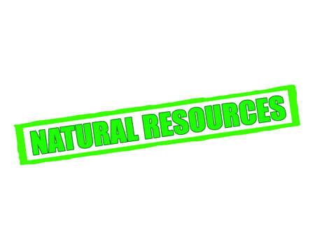 ressources naturelles: tampon en caoutchouc avec les ressources naturelles de texte � l'int�rieur, illustration vectorielle