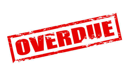 overdue: Rubber stamp with word overdue inside, vector illustration