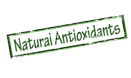 antioxidants: Rubber stamp with text natural antioxidants inside, vector illustration