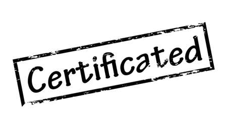 certificated: Rubber stamp with word certificated inside, vector illustration Illustration