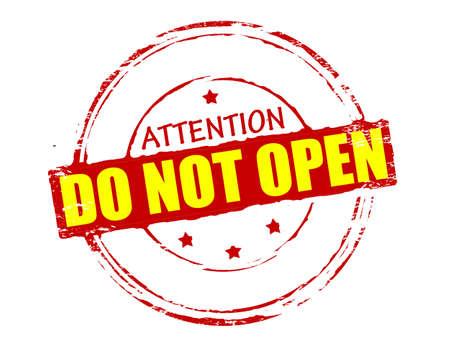 not open: Timbro di gomma con il testo non aprire dentro, illustrazione vettoriale