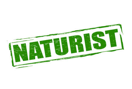 naturist: Rubber stamp with word naturost inside, vector illustration