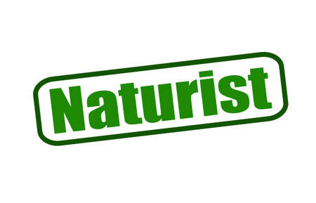 naturist: Rubber stamp with word naturist inside, vector illustration