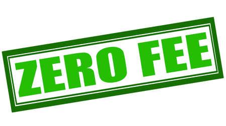 honorarios: Sello de goma con el texto cuota cero en el interior, ilustraci�n vectorial Vectores