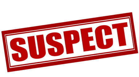 suspect: Rubber stamp with word suspect inside, vector illustration