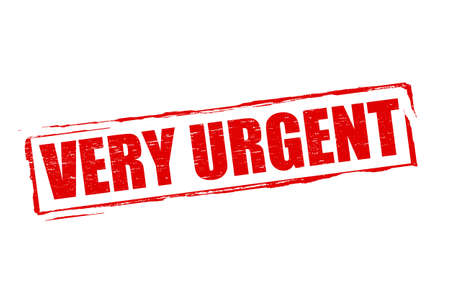 very: Rubber stamp with word very urgent inside, vector illustration