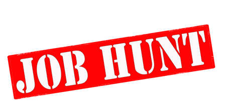 job hunting: Rubber stamp with text job hunt inside, vector illustration