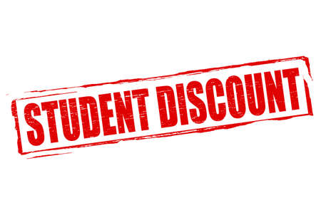 Rubber stamp with text student discount inside, vector illustration