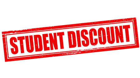 collegian: Rubber stamp with text student discount inside, vector illustration